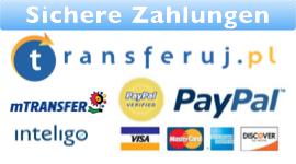 Bezahlen Sie bequem online per Transferuj.pl